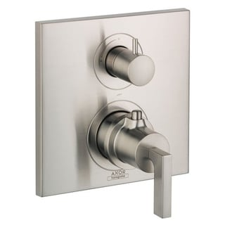 Axor AX Citterio Brushed Nickel Lever Volume Control Thermostatic Shower Trim