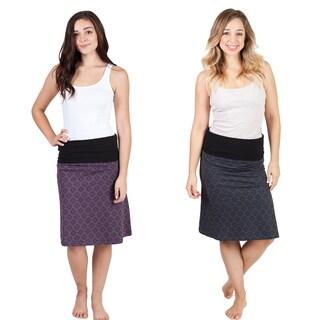 'Om' Print A-line Stretch Skirt (Nepal)
