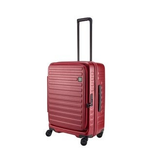 Lojel Cubo Polycarbonate, Aluminum, and Fabric 25.5-inch Hardside Upright Spinner Suitcase