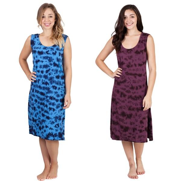 fe7dfe0ff6754 Shop Women's Tie Dye Organic Cotton Summer Dress - Free Shipping On ...