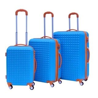 Rivolite Paris 3-piece Two-tone Hardside Spinner Luggage Set