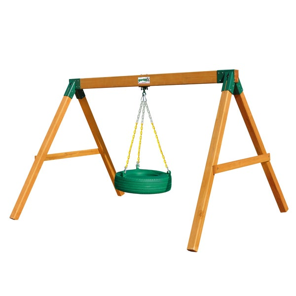 Gorilla Playsets Amber Stained Cedar Tire Swing Station