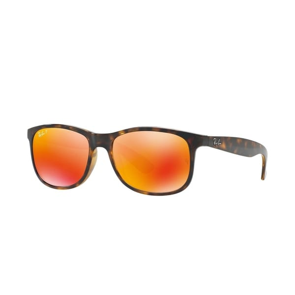 80b51a6e3ae3 Ray-Ban RB4202 710 6S Andy Tortoise Frame Polarized Orange Flash 55mm Lens  Sunglasses