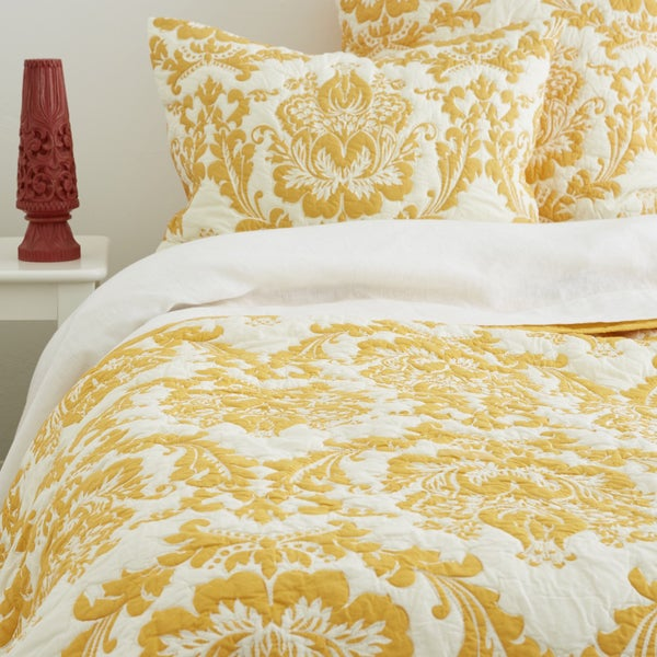 Dalilah Yellow Cotton Quilt