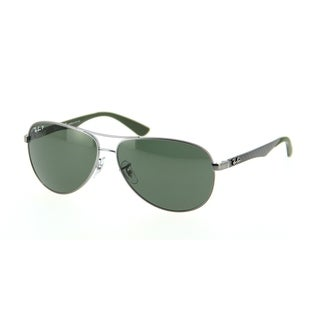 Ray-Ban RB8313 004/N5 Gunmetal/Green Frame Polarized Green 61mm Lens Sunglasses