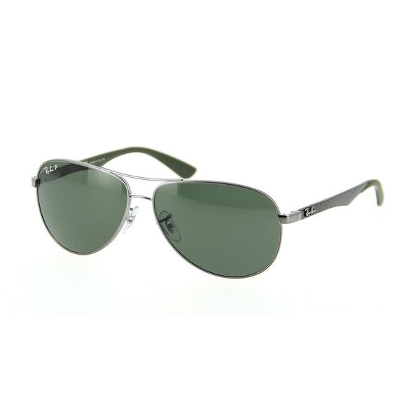 19aa4a3fb0 Ray-Ban RB8313 004 N5 Gunmetal Green Frame Polarized Green 61mm Lens  Sunglasses