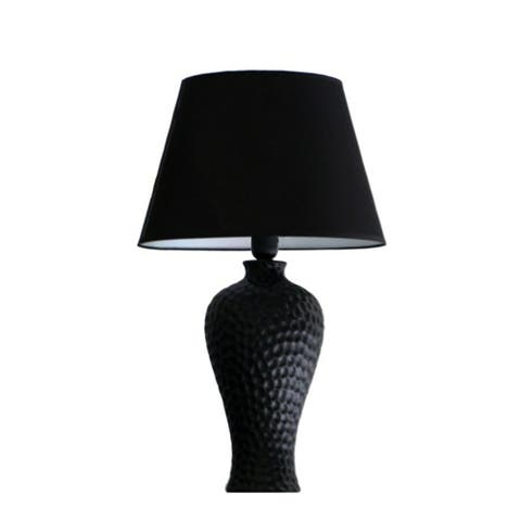 Porch & Den Hayes Textured Ceramic Table Lamp