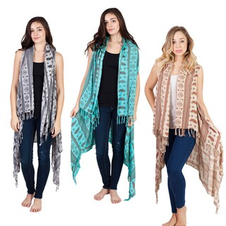 Native Bloom Waterfall Fringe Vest