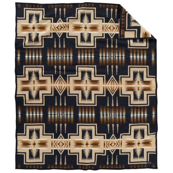 Pendleton Harding Multicolor Southwest Pattern Cotton and Wool Throw