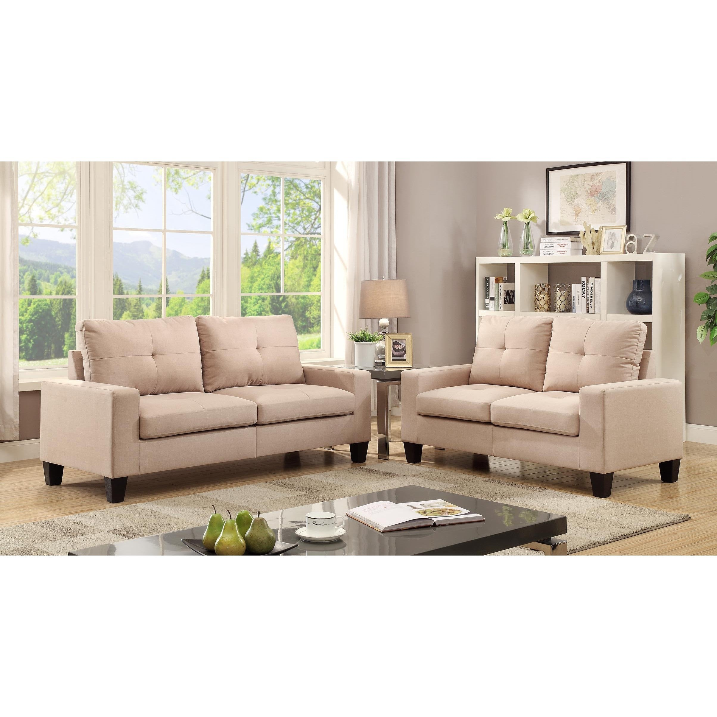 Acme Furniture Platinum II Sofa And Loveseat Living Room Set (4 Options  Available)