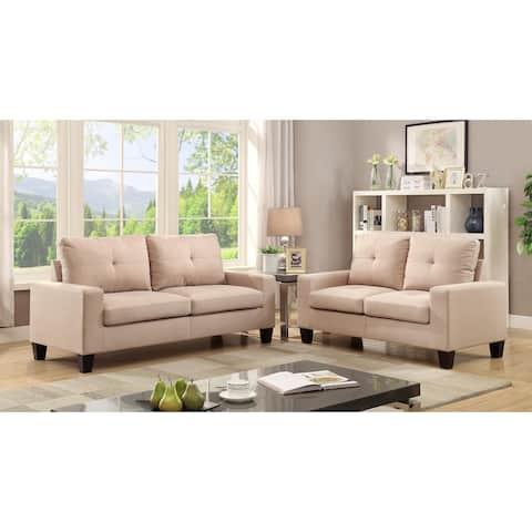 Porch & Den Biscayne Sofa and Loveseat Living Room Set