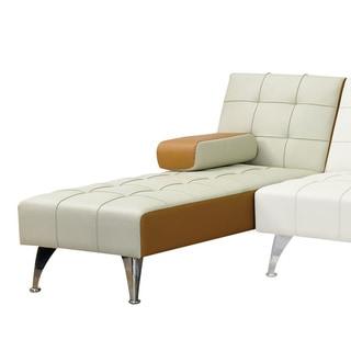 Acme Furniture Lytton Adjustable Chaise, Beige & Brown PU
