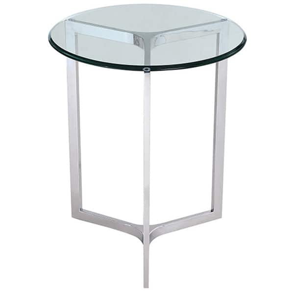 Whiteline Contemporary Modern Allure Occasional Glass Side Table End Overstock 14341502