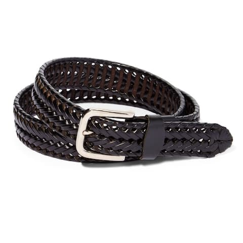 Braided Leather Dress Belt