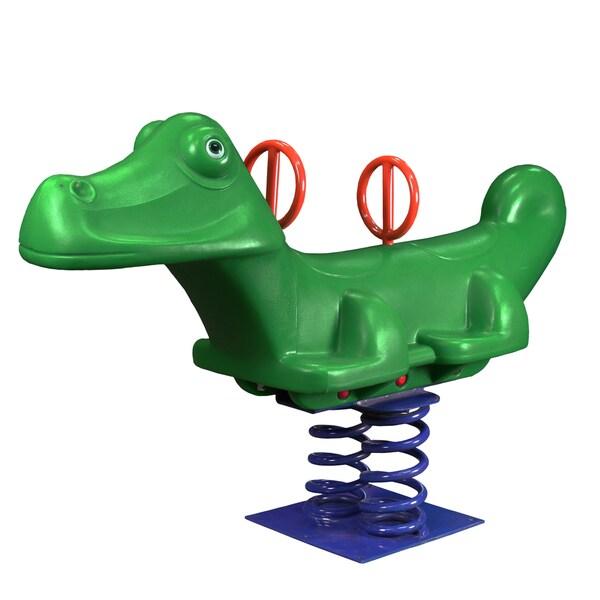 Gorilla Playsets Great Gator Green Spring Rider