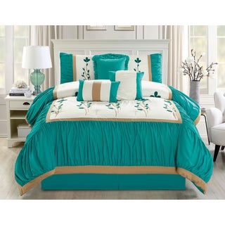 Emma Embrodierd 7 piece Comforter Set