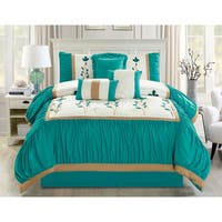Emma Embrodierd 7 piece Comforter Set