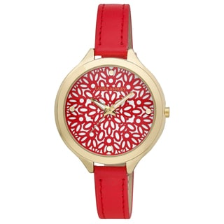 Laura Ashley Pink/Gold Slim Band Geo Pattern Dial Women's Japanese Quartz Watch
