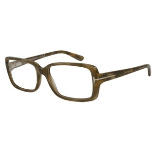 Tom Ford Rx TF5187 Women's Brown Frame Oversized Rectangle 55 mm Eyeglass Frames