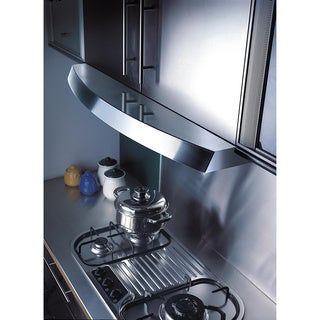 KOBE RAX2830SQB-2 Brillia 30-inch under cabinet range hood, 3-speed, 680 CFM, LED Lights, Baffle Filters