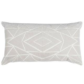 Rizzy Home Grey Cotton Geometric Throw Pillow