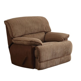 Acme Furniture Malvern Faux Leather Two-tone Fabric Rocker Recliner