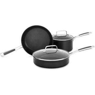 KitchenAid Hard Anodized Nonstick 5-Piece Cookware, Set B in Midnight Black