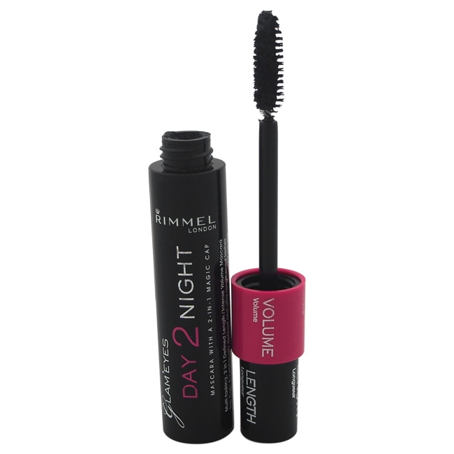 611c5e31595 Shop Rimmel London Glam Eyes Day 2 Night Mascara 001 Black - Free Shipping  On Orders Over $45 - Overstock - 14341758