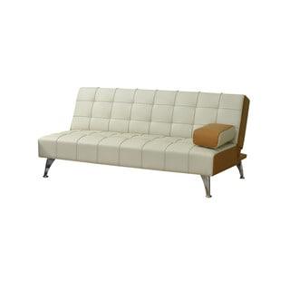 Acme Furniture Lytton Beige/ Brown Faux Leather Adjustable Sofa