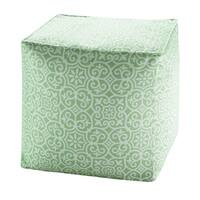 Madison Park Morro Printed Fret 3M Scotchgard Indoor/Outdoor Pouf 4 Color Option