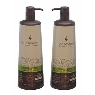 Macadamia Professional Weightless Moisture Shampoo and Conditioner 1 Liter Duo Set