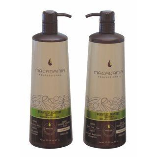 Macadamia Professional Weightless Moisture Shampoo and Conditioner 1 Liter Duo Set