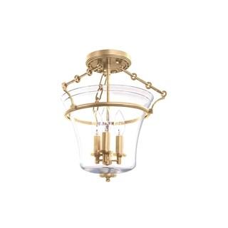 Hudson Valley Eaton 3-light Aged Brass Semi Flush