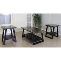Simmons Ebony Black Accent Tables (Set of 3)