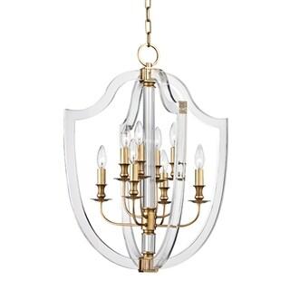 Hudson Valley Arietta 8-light 21-inch Aged Brass Pendant