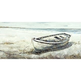 Lonesome Boat on the Beach Original Hand Painted Wall Art