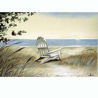 Beach Chair on the Sand Original Hand Painted Wall Art