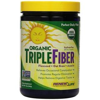 Renew Life Organic Triple Fiber 12-ounce Powder