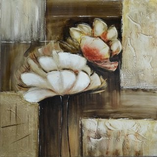 'Floral Sighs' Original Hand-painted Wall Art