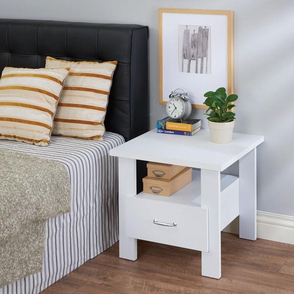 Acme Furniture Delano White Wood 1-drawer Nightstand