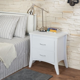Acme Furniture Babb White Wood 2-drawer Nightstand