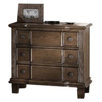 Acme Furniture Baudouin Weathered Oak-finish Acacia 3-drawer Nightstand