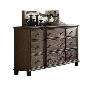 Acme Furniture Baudouin 9-drawer Weathered Oak Acacia, Veener Dresser