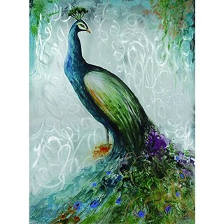 Confident Peacock Original Hand Painted Wall Art
