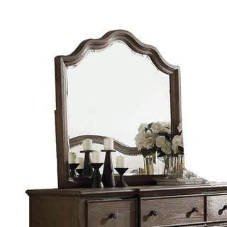 Acme Furniture Baudouin Weathered Oak Beveled Mirror