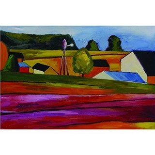 Outskirts of Town Original Hand Painted Wall Art
