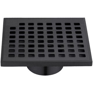 "Dawn® Brisbane River Series - Square Shower Drain 5""L Dark Brown Finished (Threaded)"