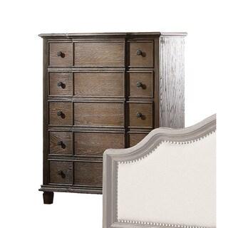 Acme Furniture Baudouin Weathered Oak-finish Acacia 5-drawer Chest