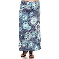 Women's Medallion Floral Maxi Skirt