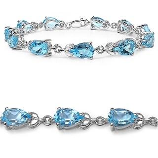 iNatemy .925 Sterling Silver 14.3ct Topaz Blue Bracelet
